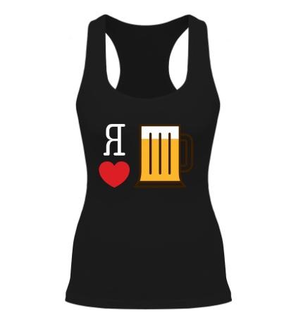 Женская борцовка Я люблю пиво