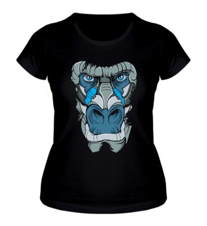 Женская футболка Голова гориллы