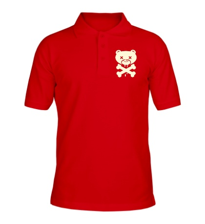 Рубашка поло Медведь пират, свет