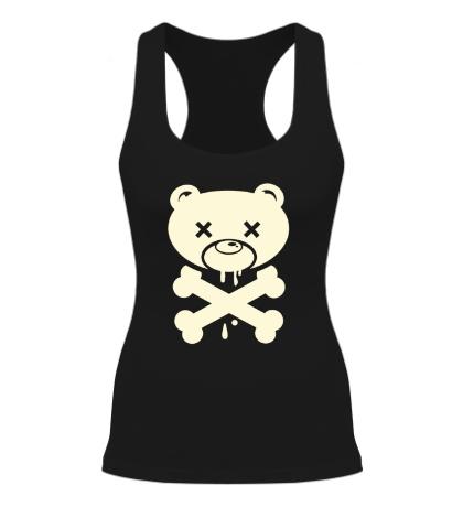 Женская борцовка Медведь пират, свет