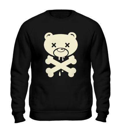 Свитшот Медведь пират, свет