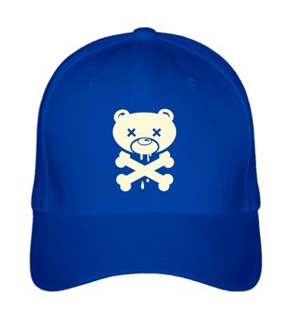 Бейсболка Медведь пират, свет