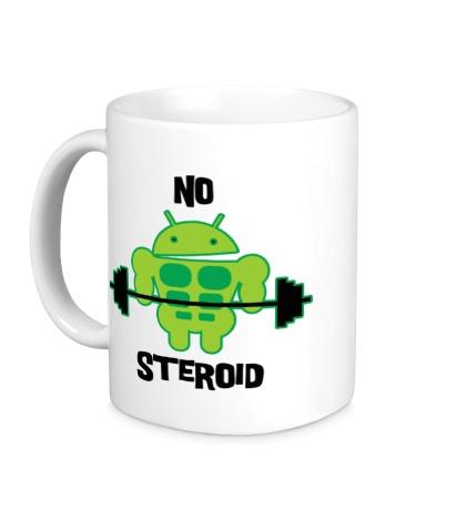 Керамическая кружка Android, No Steroid
