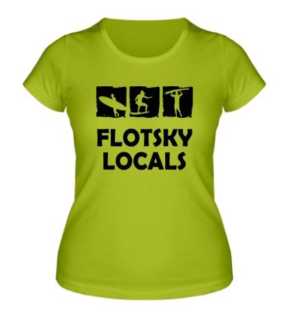 Женская футболка Flotsky locals