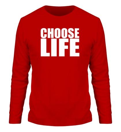 Мужской лонгслив Choose life