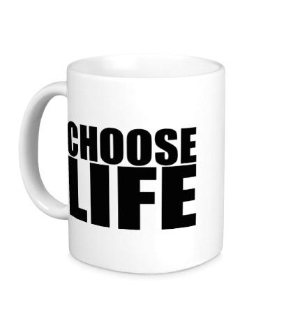 Керамическая кружка Choose life