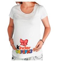 Футболка для беременной Киндер сюрприз с бантиком