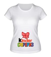 Женская футболка Киндер сюрприз с бантиком