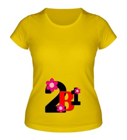 Женская футболка 2 в 1