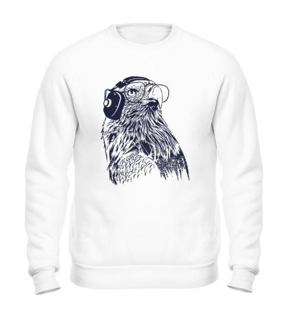Свитшот Орел в наушниках