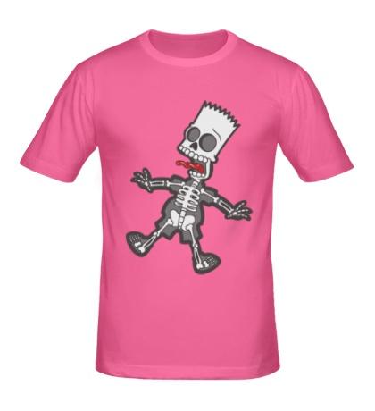 Мужская футболка Скелет Барта