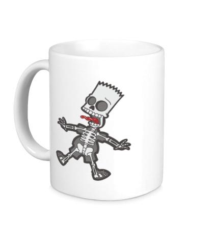 Керамическая кружка Скелет Барта