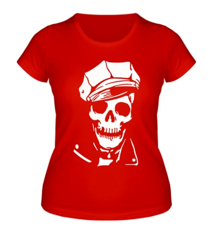 Женская футболка Череп в фуражке