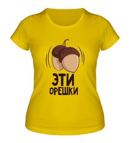 Женская футболка Орешки и белочка, для нее