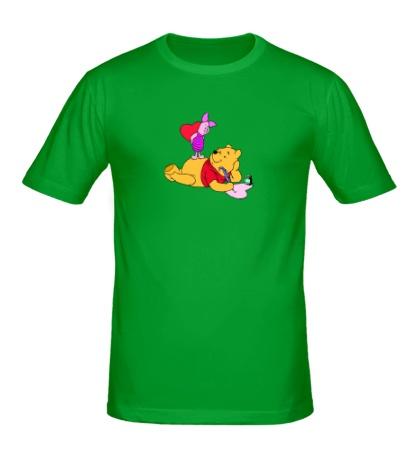 Мужская футболка Влюбленный Винни Пух