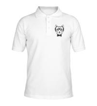 Рубашка поло Кот в очках