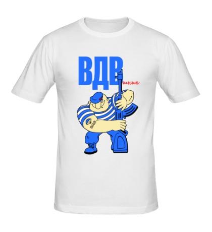 Мужская футболка ВДВшник с автоматом