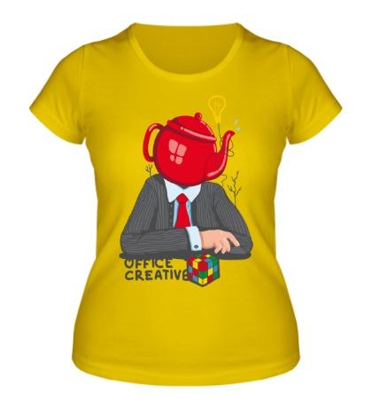 Женская футболка Офисный креатив