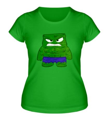 Женская футболка Anger HULK