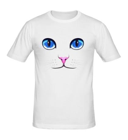 Мужская футболка Кошачьи глаза