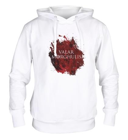 Толстовка с капюшоном Valar Morghulis: blood stain