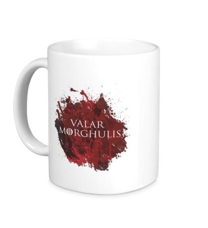 Керамическая кружка Valar Morghulis: blood stain