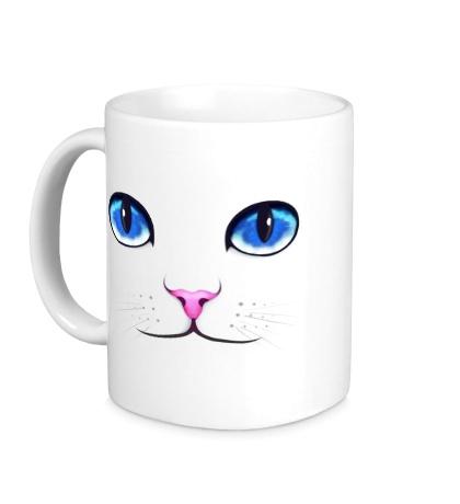 Керамическая кружка Кошачьи глаза