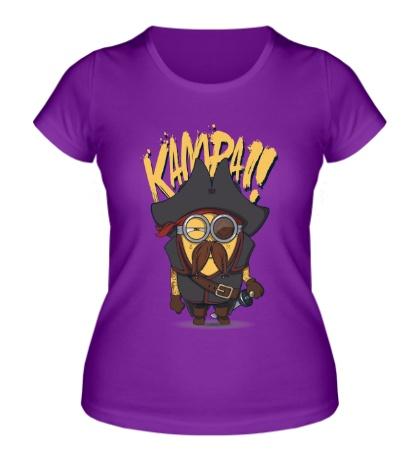 Женская футболка Миньон-пират