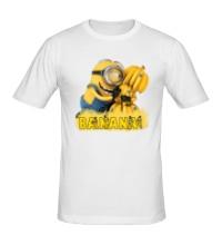 Мужская футболка Minions love bananas