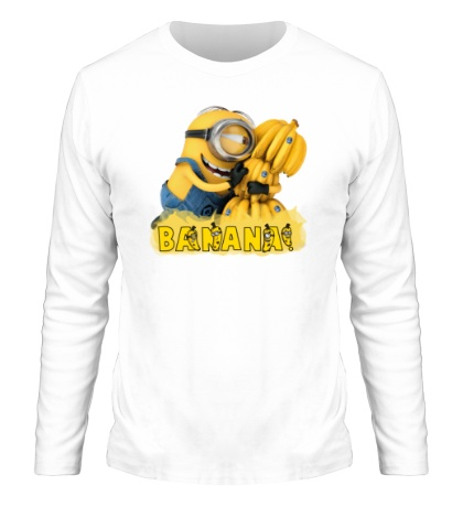 Мужской лонгслив Minions love bananas