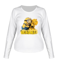 Женский лонгслив Minions love bananas