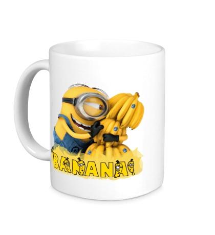 Керамическая кружка Minions love bananas