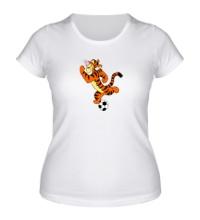 Женская футболка Тигра футболист