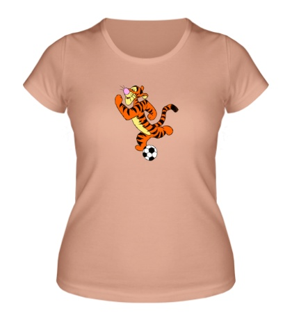 Женская футболка «Тигра футболист»