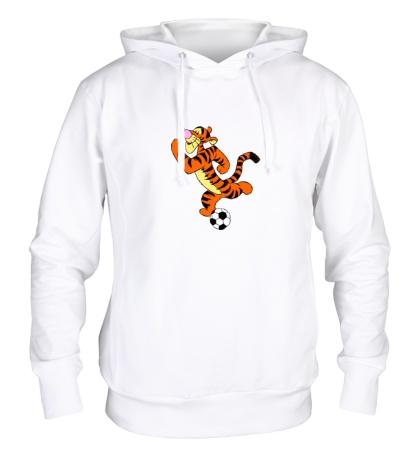 Толстовка с капюшоном Тигра футболист