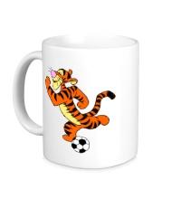 Керамическая кружка Тигра футболист