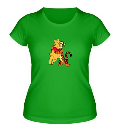 Женская футболка Винни Пух и Тигра