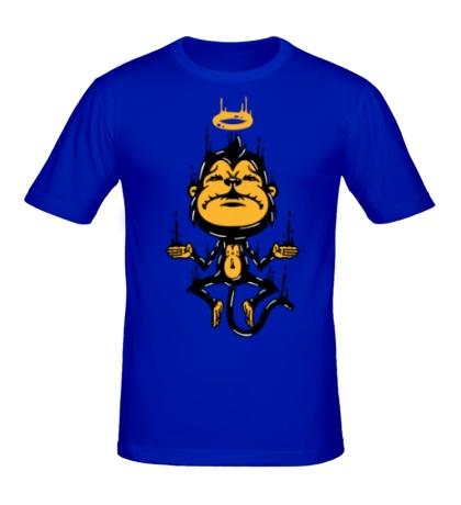 Мужская футболка Обезьяна медитирует