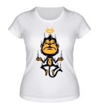 Женская футболка Обезьяна медитирует