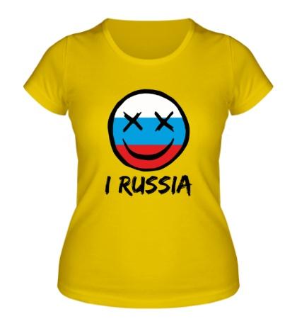 Женская футболка Русский смайл