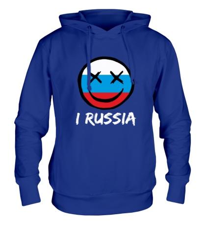 Толстовка с капюшоном Русский смайл