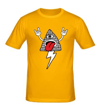 Мужская футболка Рокерская пирамида