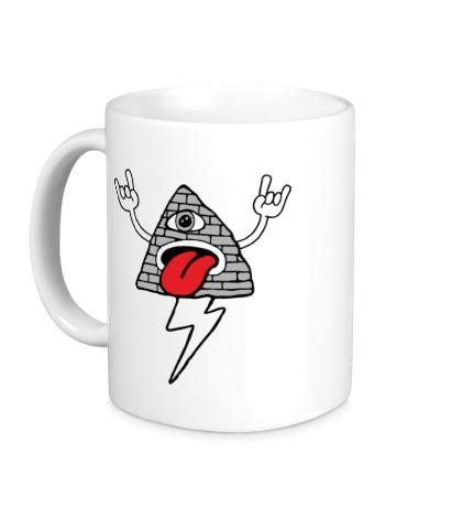 Керамическая кружка Рокерская пирамида