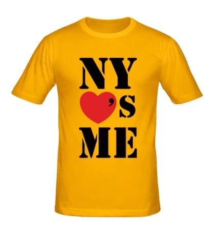 Мужская футболка NY Loves Me
