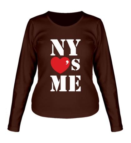 Женский лонгслив NY Loves Me