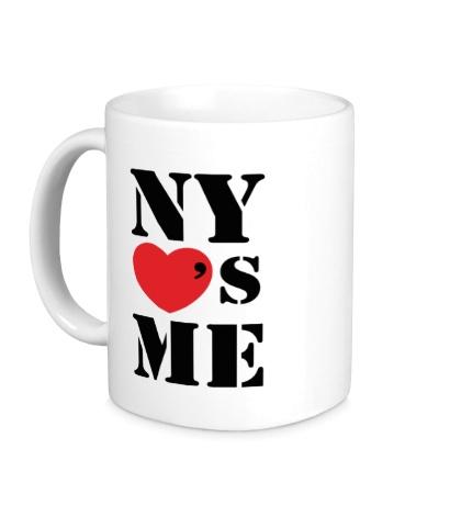Керамическая кружка NY Loves Me