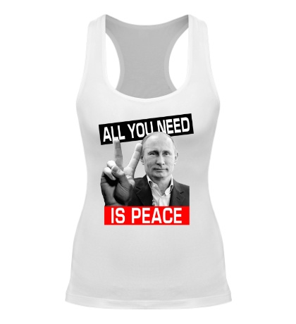 Женская борцовка All you need is peace