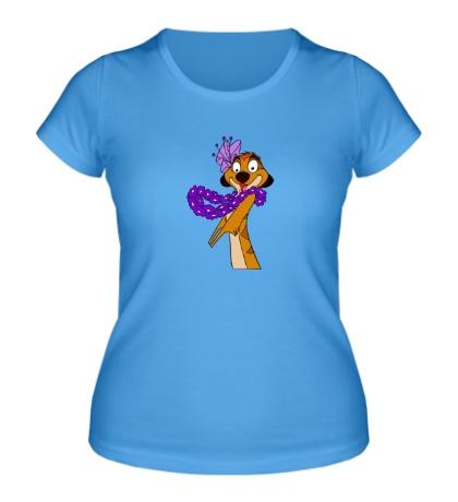 Женская футболка Влюбленный Тимон