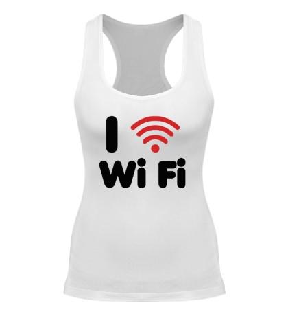 Женская борцовка I love Wi Fi