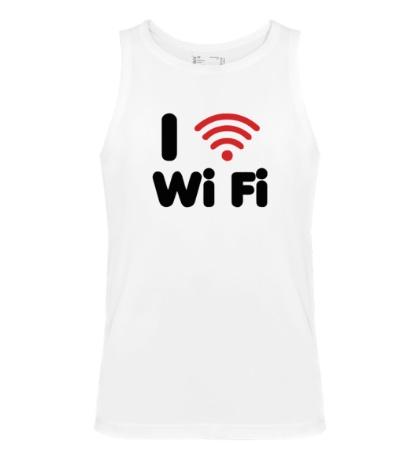 Мужская майка I love Wi Fi